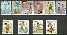 COUPE DU MONDE DE FOOTBALL Espagne 82 Nicaragua 10 timbres oblitérés /T263