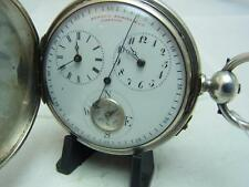 A Superb Silver Full Hunter Chinese Duplex Pocket Watch With Compass Ref Gard428