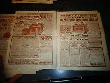 Pages Catalogue Ancien Velo Appareil photo Phonographe Pendule Musique aluminium