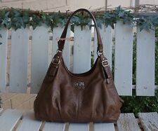 Coach Madison Brown Pleated Leather Shoulder Bag $358