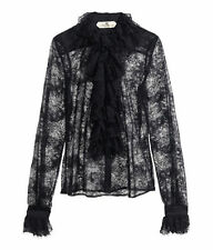NWT SO SEDUCTIVE H&M SPRING COLLECTION BLK LACE SHIRT US 8 EU 38! CHANTILLY LACE