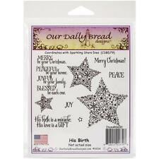 His Birth Cling Stamp Collection Our Daily Bread NEW christmas jesus holy eve