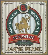 Poland Brewery Jędrzejów Strzelec Beer Label Bieretikett Centaur Horse je74.2