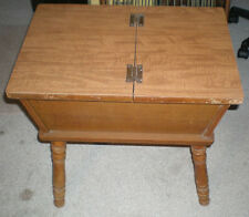 """Vintage Mid Century 1950s MAPLE DOUGH BOX table Tell City ? End Table 23"""" x 22"""""""