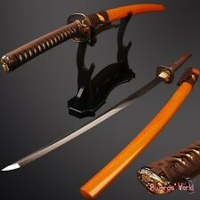 Battle ready Japanese samurai KATANA sword Clay Tempered real rayskin Full tang