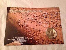 PERUVIAN 1 SOL COIN CABEZA DE VACA (TUMBES) SPANISH DESCRIPTION NEW