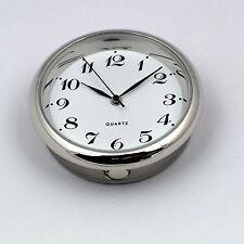Premium 35mm argent lunette montre à quartz insert mouvement