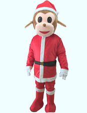 Merry Christmas Monkey Mascot Costume Cartoon Clothing Adult Size fandy dress