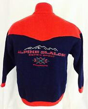 Vintage 80's Esprit Lambswool Embroidered Ski Sweater. Size Small.