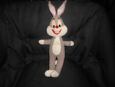 Vintage Bugs Bunny plush toy, Mighty Star 1971, rare, Warner Bros. GD cond.