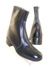 New BOOTMASTER Hand-Made Mens Blk Leather Casual Dress Beatle Boot Shoe Size 8 C