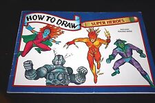 How to Draw Super Heroes Book Robot Action Figures   -S