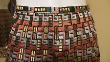 *NEW* ZAC POSEN STUNNING METALLIC BROWN MULTI COLOR CHIFFON SKIRT Sz 8 Rt $1750