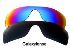 Galaxy Replacement Lenses for Oakley Batwolf Black&Green Polarized 2 PAIRS