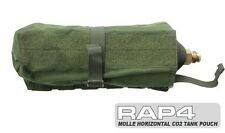 MOLLE Horizontal Paintball CO2 Air Tank Pouch (Medium) (Olive Drab) [X4]