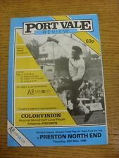 25/05/1989 Play-Off Semi-final división 3: Port Vale V Preston North End. COND