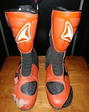 Teknic Track/Race Boots motorcycle Red & Black  US 12 Leather
