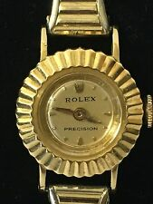 STUNNING VTG Ladies Rolex Petite Watch 18K Solid Gold NEAR MINT.RUNNING. RARE