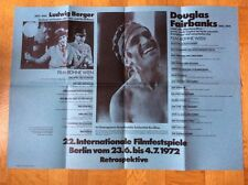 22. Internationale Filmfestspiele Berlin 1972 (Filmplakat) - Douglas Fairbanks