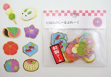 Japanese wagashi sticker flakes! Traditional sweets from Japan - mochi & more!