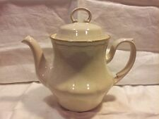 VINTAGE BAROQUE HEARTHSIDE STONEWARE TEAPOT HAND PAINTED JAPAN POTTERY