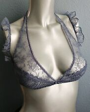 $198 Victorias Secret Designer Collection Crochet Lace Strappy Halter Bra 32C