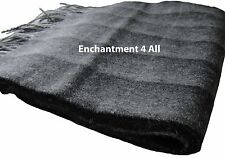 New 100% 2-Ply Cashmere Classic Plaid Scarf, Black