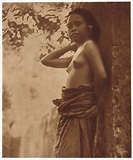 1920's Vintage Asian Indonesian Bali Female Nude Krause Photo Gravure Print b