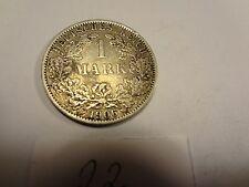 Reichsmark, 1 Mark, Reichsmünze, 1906 Buchstabe A silber  unbehandelt, top (22)
