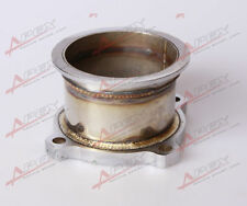 """UNIVERSAL STAINLESS STEEL 3"""" 4 BOLT TO 3.0'' V-BAND TURBO DOWNPIPE ADAPTER"""