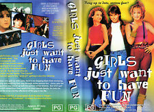 GIRLS JUST WANT TO HAVE FUN - Sarah Jessica Parker - VHS -NEW - Never played! PG
