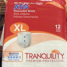 Tranquility ATN Overnight Maximum Absorbency Diapers Briefs XL CASE of 72