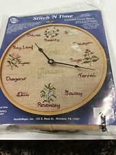 Counted Cross Stitch Clock Kit Herb Garden 352  Stitch n Time Needle Craft Gift