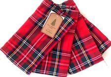 Well Dressed Home Tartan Madras Plaid Cloth Napkins Holiday Christmas