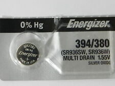 Energizer 394/380 SR936SW Button Cell Silver Oxide Watch Battery, 1Pc