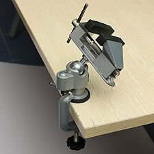 "Universal Table Bench Vise 3"" Work Bench Clamp Swivel Rotating Hobby Craft"