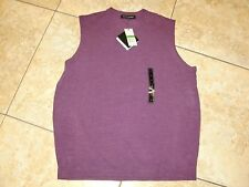 "NWT Me's""TRICOTS ST.RAPHAEL""100%Acrylic Orchid Color Knitted Vest  Size L. NICE!"
