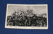 Greece, Athens, The Acropolis as Seen from Pnyx - Old Picture Postcard
