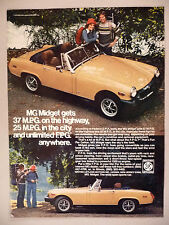 MG Midget Sports Car PRINT AD - 1976