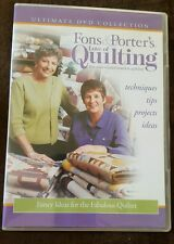 Fons & Porters Love of Quilting Chenille Snuggle Quilt Petite Baskets Sewing DVD