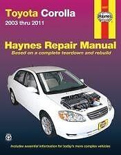 Toyota Corolla Shop Service Repair Manual Book owners 03-05 06 07 09 2010 2011