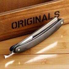 Men Folding Straight Edge Steel Barber Razor Shaving Knife Wood Handle  div alig