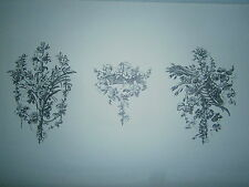 Planche gravure  Jean Michel Papillon Deux fleurons et un cul de lampe