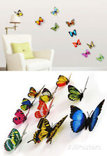 3D Colourful Butterflies Set 2 - Magnetic/Wall Stickers Wall Decal Sticker