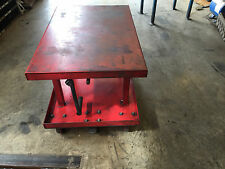 Mechanical Post Table Die Cart Lift Work Roll Around -36inL x 24inW 2000LB