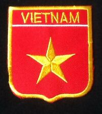 VIETNAM NATIONAL COUNTRY FLAG BADGE IRON SEW ON PATCH CREST SHIELD BACKPACKER