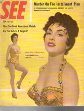 1956 SEE March - Gina Lollobrigida; Gloria Vanderbilt;Barbara Nichols;Gaza Strip