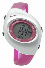 New Nike Kids Triax Junior WR0017 Supra Pink and Silver Digital 38mm Watch