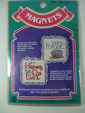 Counted Cross Stitch Kit Magnets Honey Do List & Don't Forget Elephant NEW