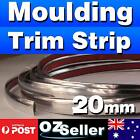 3M Silver 20mm Car Chrome DIY Moulding Trim Strip For Grille Window Door Bumper